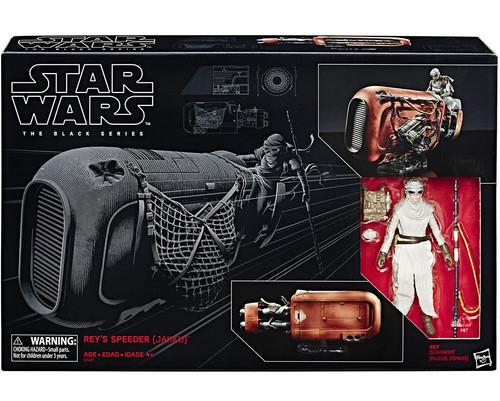 Star Wars The Force Awakens Black Series Rey's Speeder (Jakku) Vehicle & Figure