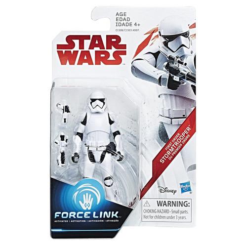 Star Wars The Last Jedi Force Link Orange Series Wave 1 First Order Stormtrooper Action Figure