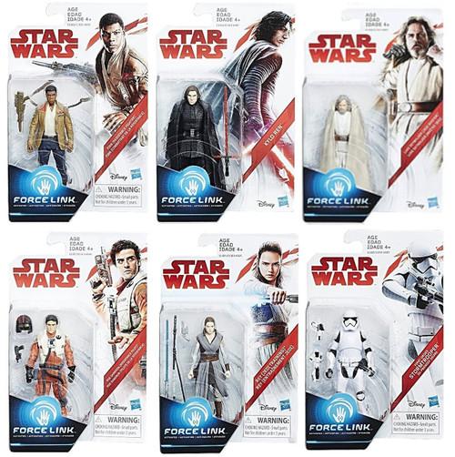 Star Wars The Last Jedi Force Link Orange Series Wave 1 Set of 6 Action Figures