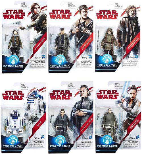 Star Wars The Last Jedi Force Link Orange Series Wave 2 Set of 6 Action Figures