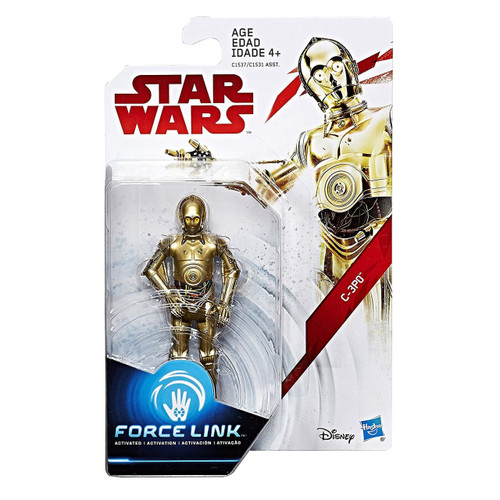 Star Wars The Last Jedi Force Link Teal Series Wave 1 C-3PO Action Figure