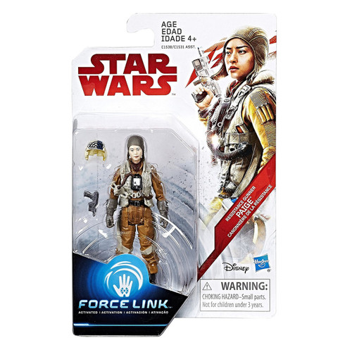 Star Wars The Last Jedi Force Link Teal Series Wave 1 Paige Dqar Action Figure [Resistance Gunner]