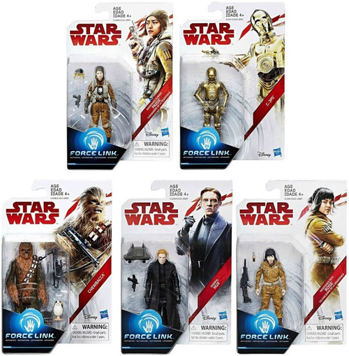 Star Wars The Last Jedi Force Link Teal Series Wave 1 Set of 5 Action Figures