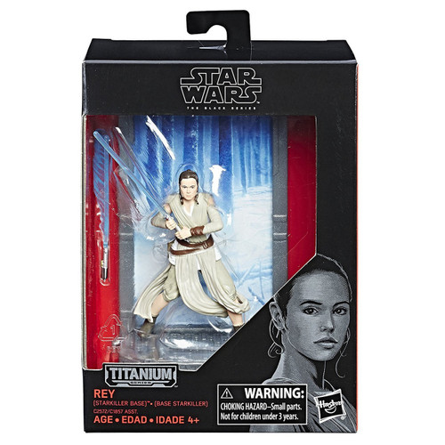Disney Star Wars The Force Awakens 40th Anniversary Black Titanium Series 2 Rey Die Cast Action Figure [Starkiller Base]