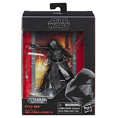 Disney Star Wars The Force Awakens 40th Anniversary Black Titanium Series 2 Kylo Ren Die Cast Action Figure