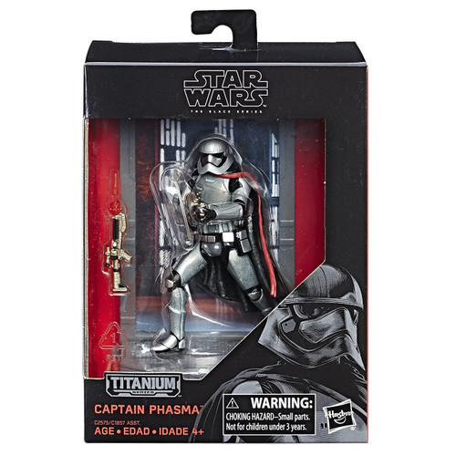 Disney Star Wars The Force Awakens 40th Anniversary Black Titanium Series 2 Captain Phasma Die Cast Action Figure