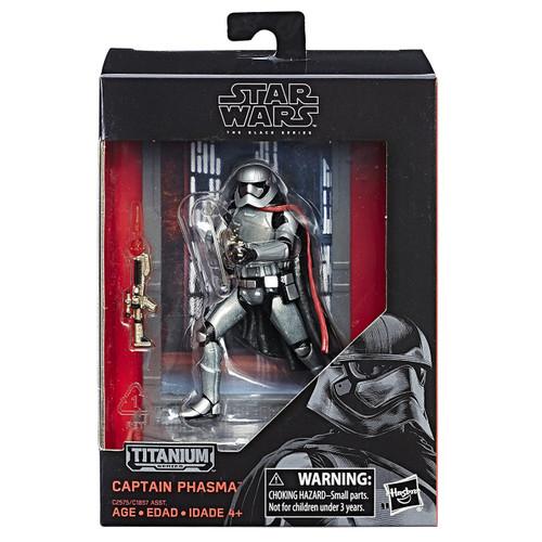Disney Star Wars The Force Awakens 40th Anniversary Black Titanium Series 2 Captain Phasma Die Cast Action Figure