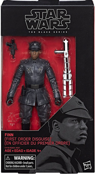 Star Wars The Last Jedi Black Series Wave 24 Finn Action Figure [First Order Disguise]