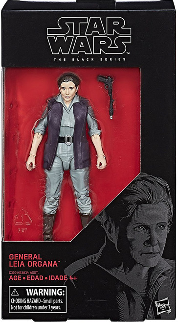 Star Wars The Force Awakens Black Series Wave 24 General Leia Organa Action Figure