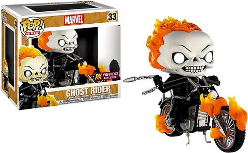 Funko Marvel POP! Rides Ghost Rider with Bike Exclusive Vinyl Figure #33 [Regular]