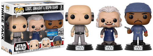 Funko POP! Star Wars Lobot, Ugnaught & Bespin Guard Exclusive Vinyl Bobble Head 3-Pack [Cloud City]