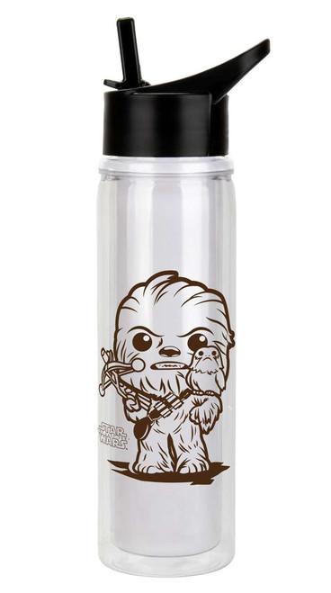 Funko Star Wars The Last Jedi Chewbacca & Porg Water Bottle