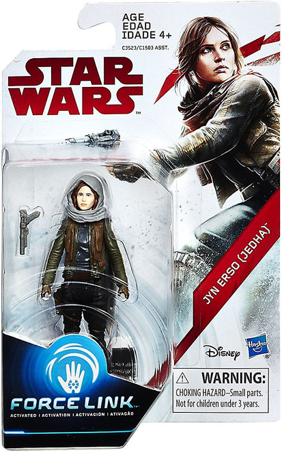 Star Wars The Last Jedi Force Link Orange Series Wave 2 Jyn Erso Action Figure
