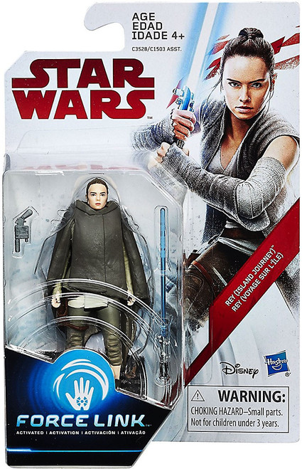 Star Wars The Last Jedi Force Link Orange Series Wave 2 Rey Action Figure [Island Journey]