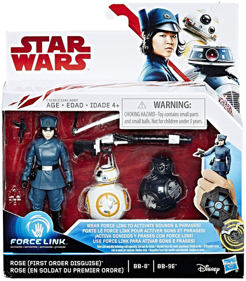 Star Wars The Last Jedi Force Link First Order Rose & BB-8 & BB-9E Action Figure 2-Pack
