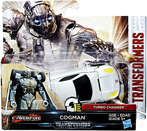 "Transformers The Last Knight 1 Step Turbo Changer Cogman 4.25"" Action Figure"