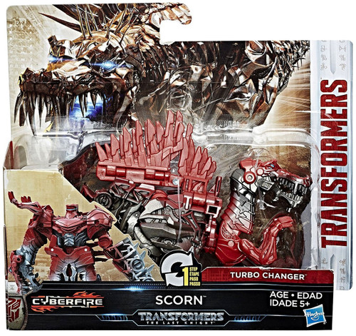 """Transformers The Last Knight 1 Step Turbo Changer Scorn 4.25"""" Action Figure"""
