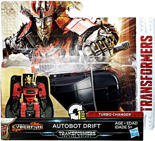 "Transformers The Last Knight 1 Step Turbo Changer Autobot Drift 4.25"" Action Figure"