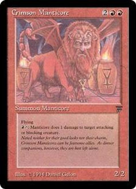 MtG Legends Rare Crimson Manticore
