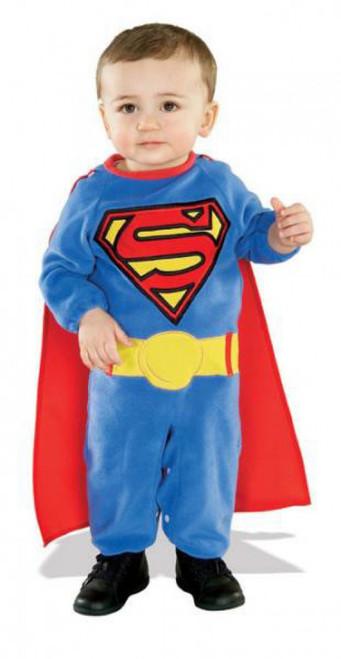 Superman Returns EZ-On Removable Cape & Romper with Underleg Snap Closure Costume #885301 [Infant]