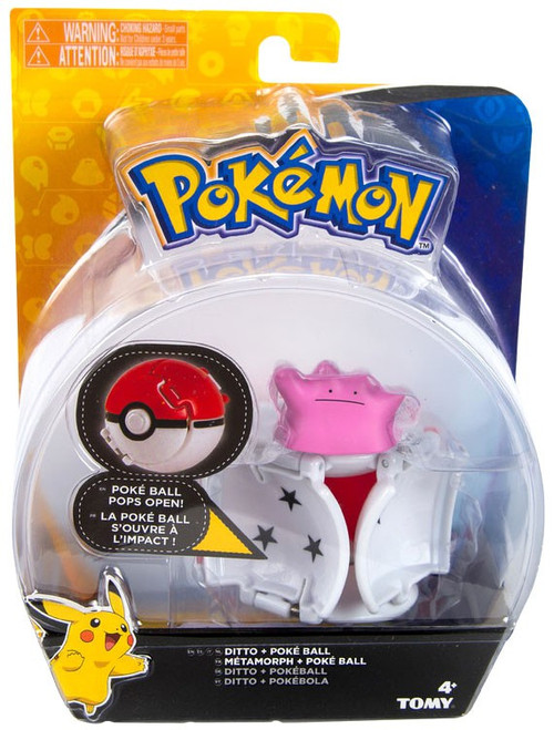 Pokemon Throw 'n' Pop Pokeball Ditto & Poke Ball Figure Set
