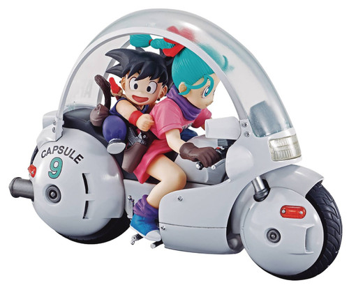 Dragon Ball Z Real McCoy Kid Goku & Bulma on Capsule Bike 6-Inch PVC Figure