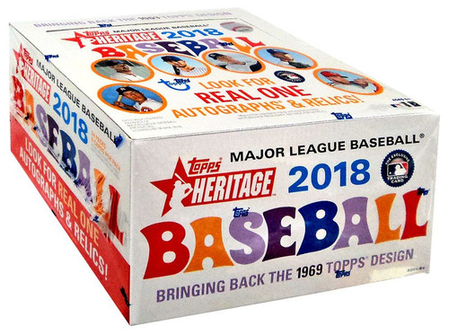 MLB Topps 2018 Heritage Baseball Trading Card RETAIL Box [24 Packs]