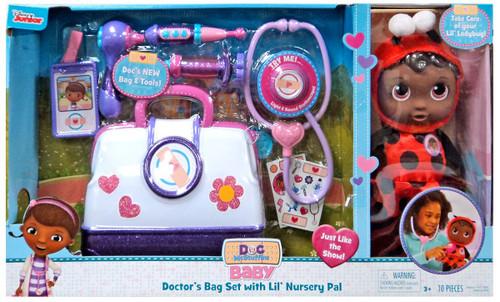 Disney Doc McStuffins Baby Doctor's Bag Set with Lil' Nursery Pal Exclusive Playset [Ladybug]