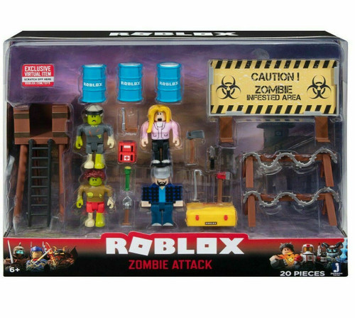 Roblox Zombie Attack 3-Inch Playset [RANDOM Box Design, Same Contents]