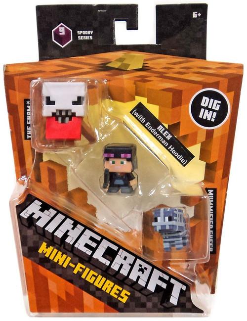 Minecraft Spooky (Halloween) Series 9 Alex with Hoodie, Mummified Sheep & The Sham Mini Figure 3-Pack