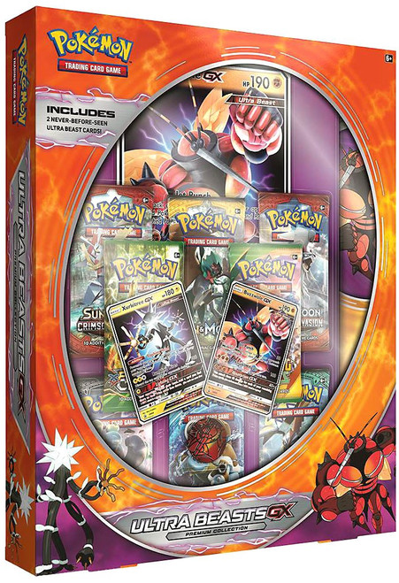 Pokemon Trading Card Game Sun & Moon Ultra Beasts GX (Buzzwole & Xurkitree) Premium Collection [8 Booster Packs, 2 Foil Promos, Oversize Promo, Playmat & Coin]