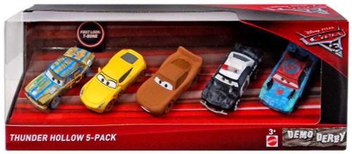 Disney / Pixar Cars Cars 3 Thunder Hollow Diecast Car 5-Pack [T-Bone, Chester Whipplefilter, Frances Beltline, APB & Fishtail]