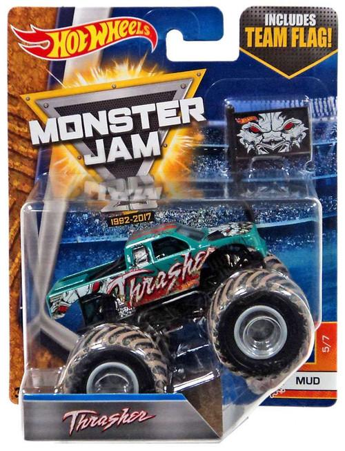 Hot Wheels Monster Jam 25 Thrasher Die-Cast Car #5/7 [Mud]