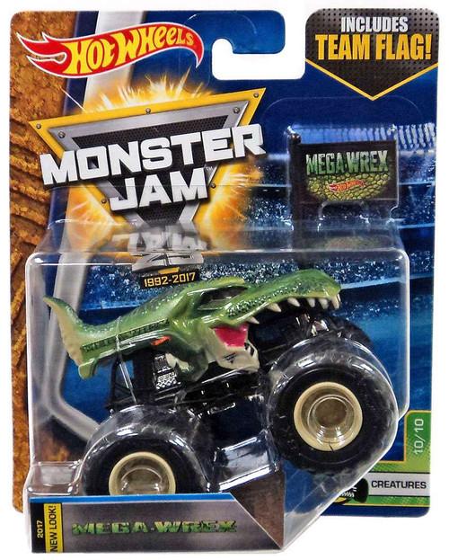 Hot Wheels Monster Jam 25 Mega-Wrex Die-Cast Car #10/10 [Creatures]