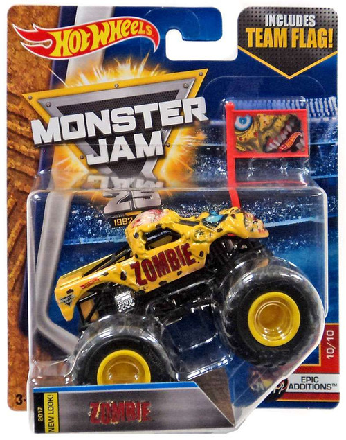 Hot Wheels Monster Jam 25 Zombie Diecast Car #10/10 [Epic Additions]