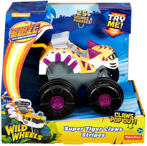 Fisher Price Blaze & the Monster Machines Wild Wheels Super Tiger Claws Stripes