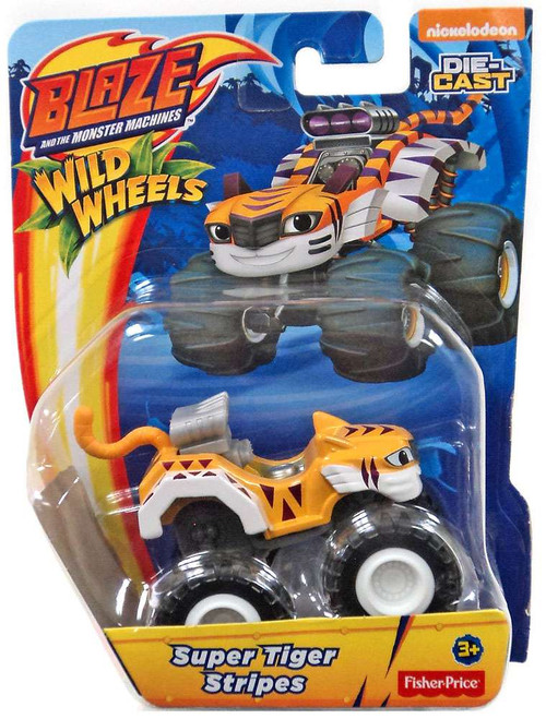 Fisher Price Blaze & the Monster Machines Nickelodeon Super Tiger Stripes Diecast Car