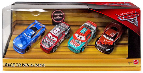 Disney / Pixar Cars Cars 3 Race to Win Exclusive Diecast Car 4-Pack [T.G. Castlenut, Murray Clutchburn, Danny Swervez & Tim Treadless]