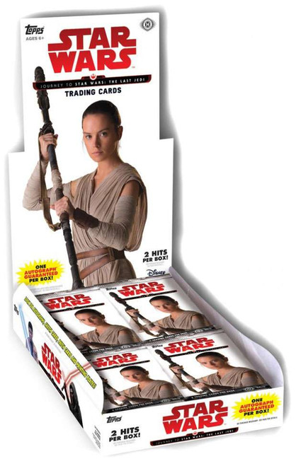 Journey to Star Wars: The Last Jedi Trading Card HOBBY Box [24 Packs, 2 Hits]