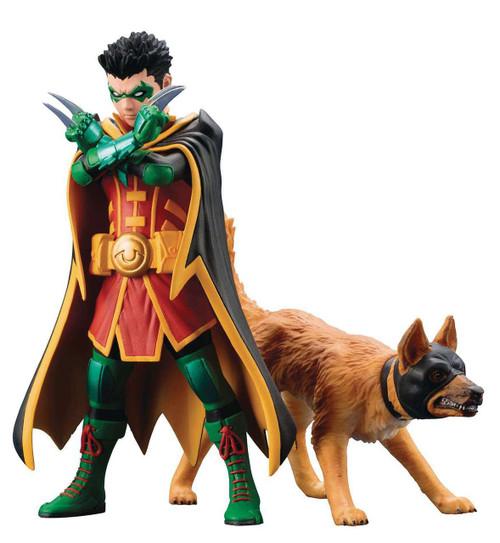 DC Batman ArtFX+ Robin & Bat-Hound Statue