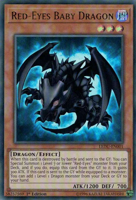 YuGiOh Legendary Duelists Ultra Rare Red-Eyes Baby Dragon LEDU-EN001