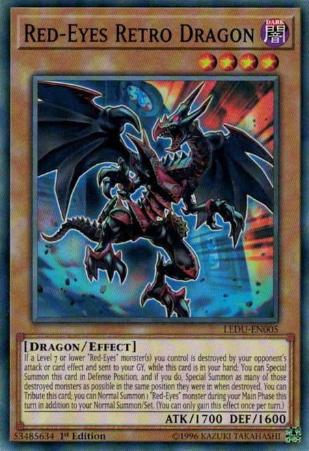 YuGiOh Legendary Duelists Common Red-Eyes Retro Dragon LEDU-EN005