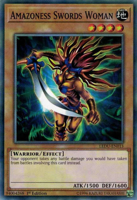 YuGiOh Legendary Duelists Common Amazoness Swords Woman LEDU-EN013