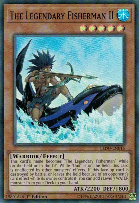 YuGiOh Legendary Duelists Super Rare The Legendary Fisherman II LEDU-EN015