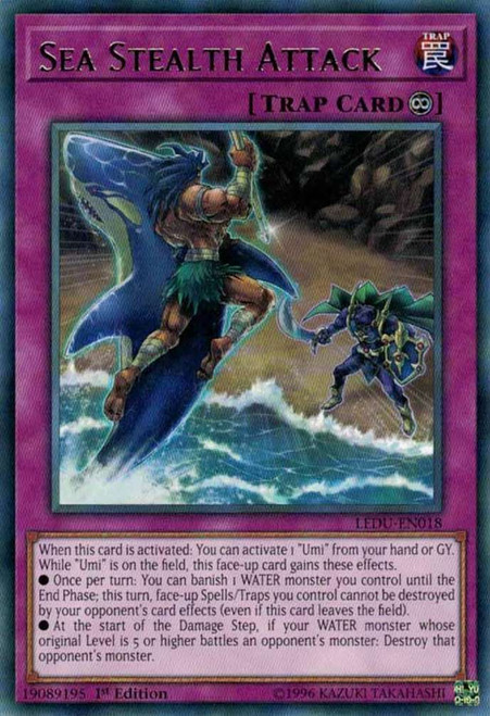YuGiOh Legendary Duelists Rare Sea Stealth Attack LEDU-EN018
