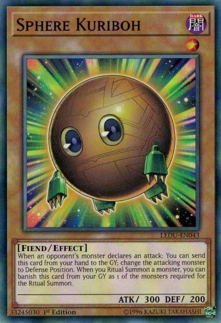 YuGiOh Legendary Duelists Common Sphere Kuriboh LEDU-EN043