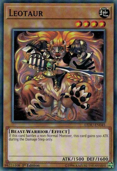 YuGiOh Legendary Duelists Common Leotaur LEDU-EN045