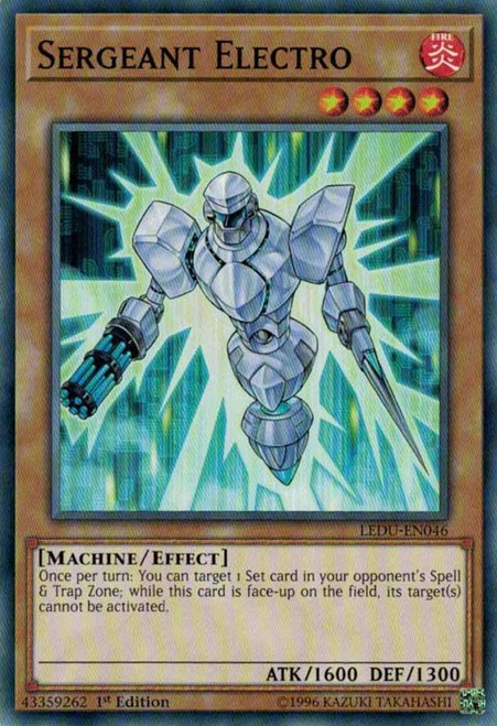 YuGiOh Legendary Duelists Common Sergeant Electro LEDU-EN046