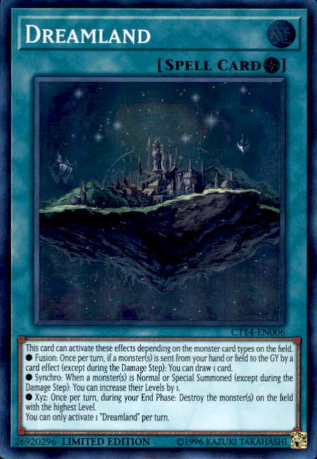 YuGiOh 2017 Mega-Tin Mega Pack Super Rare Dreamland CT14-EN006