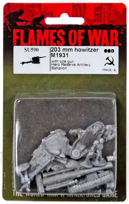 Flames of War 203mm Howitzer M1931 Miniatures SU590 [with One Gun Hero Reserve Artillery Battalion]